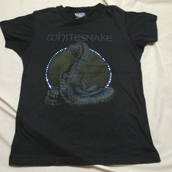 43f3bbc38a Junk Food Clothing Shirts & Tops | Vintage Style Whitesnake Concert ...